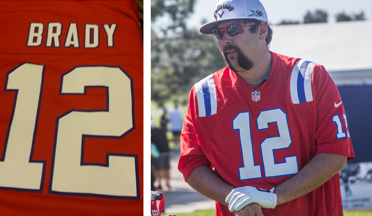 Andres Gonzales in Tom Brady Jersey